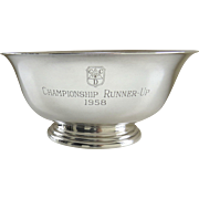 Vintage 1950's Sterling Silver Revere Silversmiths Inc. Bowl Trophy Denver Country Club