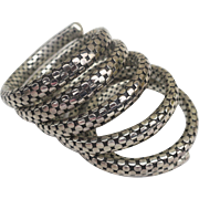 Vintage Sterling John Hardy Snake Bracelet Large Multi Coil Classic