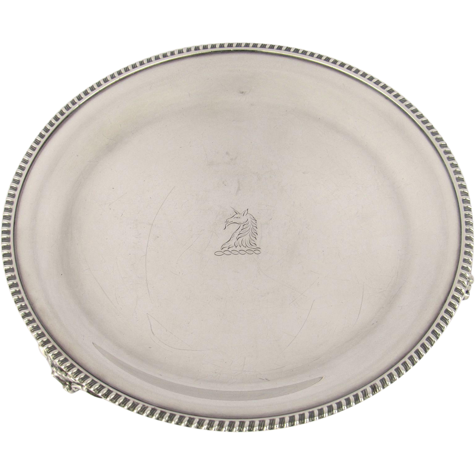 Vintage E. G. Webster & Son, Brooklyn, New York, USA Silver Plated Small Round Salver Tray