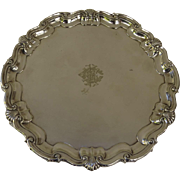 19th Century James Dixon & Sons Silver Plated Salver 8""