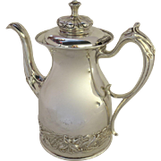 Pairpoint Art Nouveau Coffee Pot Lily Motif