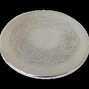 Vintage Round Silver Plate Trivet
