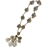 """Pools of Light"" Rock Crystal Quartz Necklace Chocker Cluster"