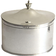 English Sterling Silver Tea Caddy By Blanckensee & Sons Ltd