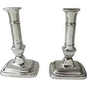 English Georgian Old Sheffield Fused Plate Telescopic Candlesticks