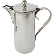Late 19th Early 20th Century English Silve Plated Clean Lines Coffee Pot by William Suckling & Sons Birmingham