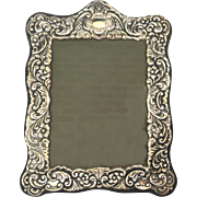 Vintage Silverplate Repousse Picture Frame