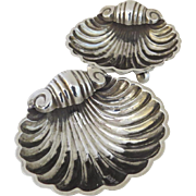Pair of English Shell Shaped Salts by William Devenport Birmingham 1910