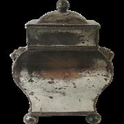 19th Century English Silver Plate Tea Caddy Lions' Head Handles