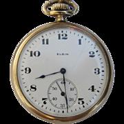 Vintage Elgin Gold Plated Pocket Watch