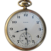 Vintage Elgin Gold Plated Pocket Watch