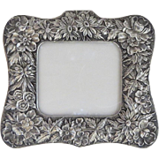 Sterling Silver S. Kirk & Son Repousse Picture Frame Calendar Frame