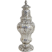French 19th Century Rococo Style Silver Hallmarked 950 Sugar Castor Shaker Muffineer