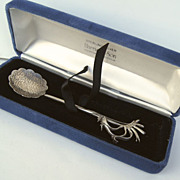 Vintage Sterling Silver Kangaroo Paw Spoon Harris & Son Australia Presentation Box