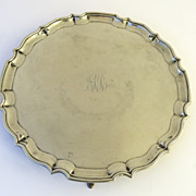 English Silver Plate Footed Salver