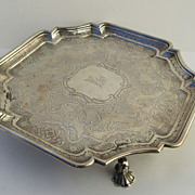 Scottish Silver Salver by James Ker 1739-1740