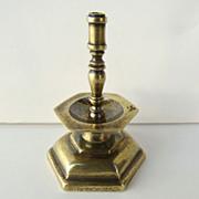 Sterling Gold Wash Miniature Mid Drip Candlestick