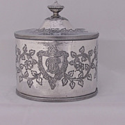 English Silver Plate Tea Caddy