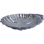 Large 5th Fifth Avenue Silver Company Silver Plated Shell Serving Tray Dish Bowl