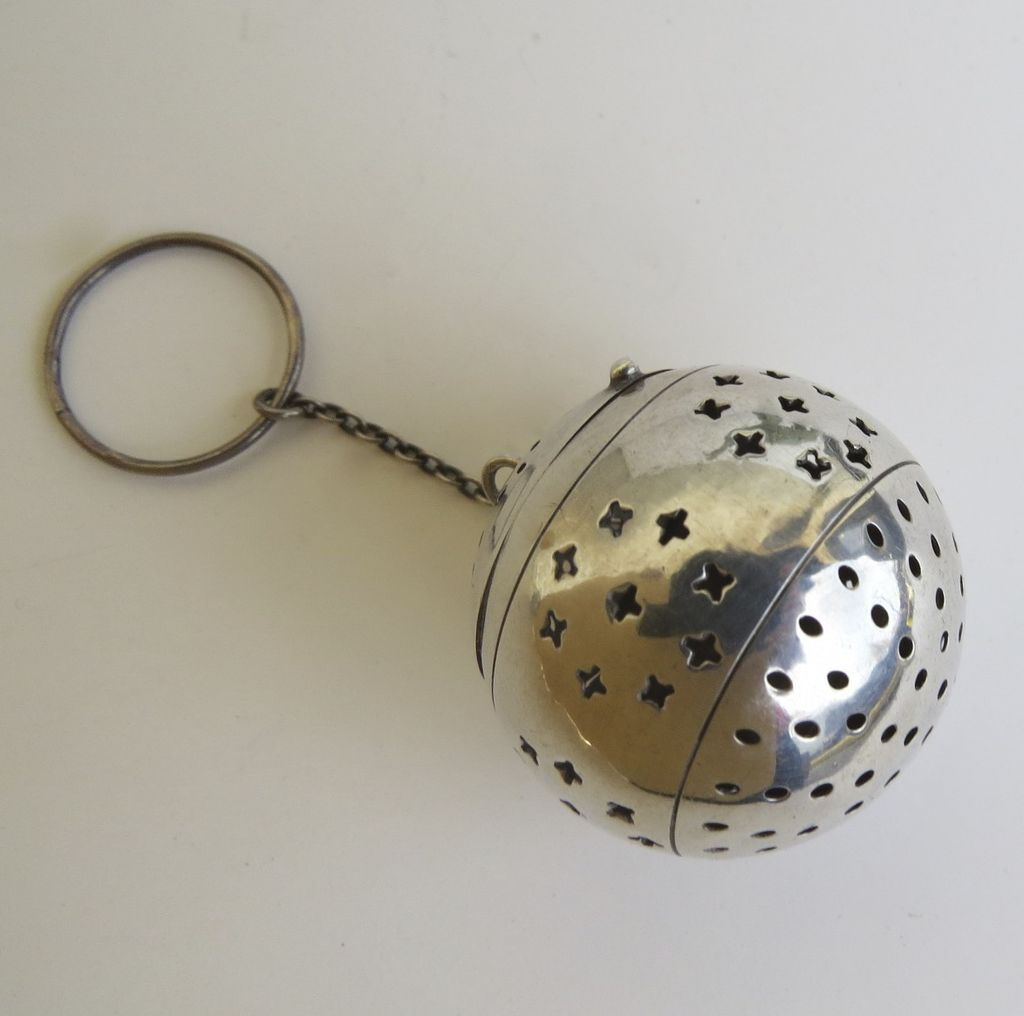 Sterling Silver Tea Ball by Waltrous c 1898