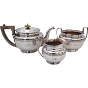 Three Piece Sheffield Plate Tea Set
