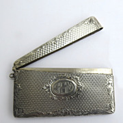 Sterling Silver Card Case Chatelaine 1890