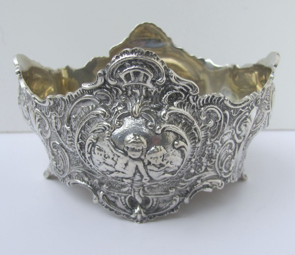 Small Shaped German Repousse Bowl