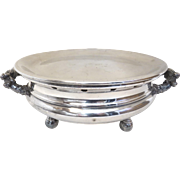 19th Century French Silver on Copper Entree Warming Dish