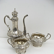 Gorham Sterling Silver Coffee Set c 1894