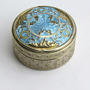 French Silver Hallmarked Enamel Box with Engine Turnings