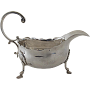 Silver Sauce Boat Hallmarked Birmingham by Nathan& Hayes 1878