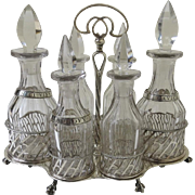 English Sterling Silver Cruet Stand by William Plummer c 1790