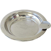 1960's Algonquin Club Sterling Silver Ash Tray