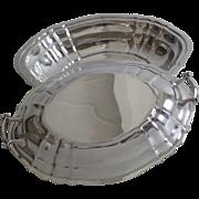 """Vintage Sterling Silver Gorham """"Chippendale"""" Pattern Vegetable Serving Dish"""