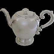 Vintage 1930's Reed & Barton Silver Plated Coffee Pot #4090 Buckingham