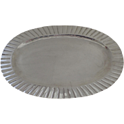 Vintage Sterling Silver .925 Tray Platter by L. Maciel Mexico