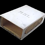 Vintage Sterling Box Match Book Case Engraved