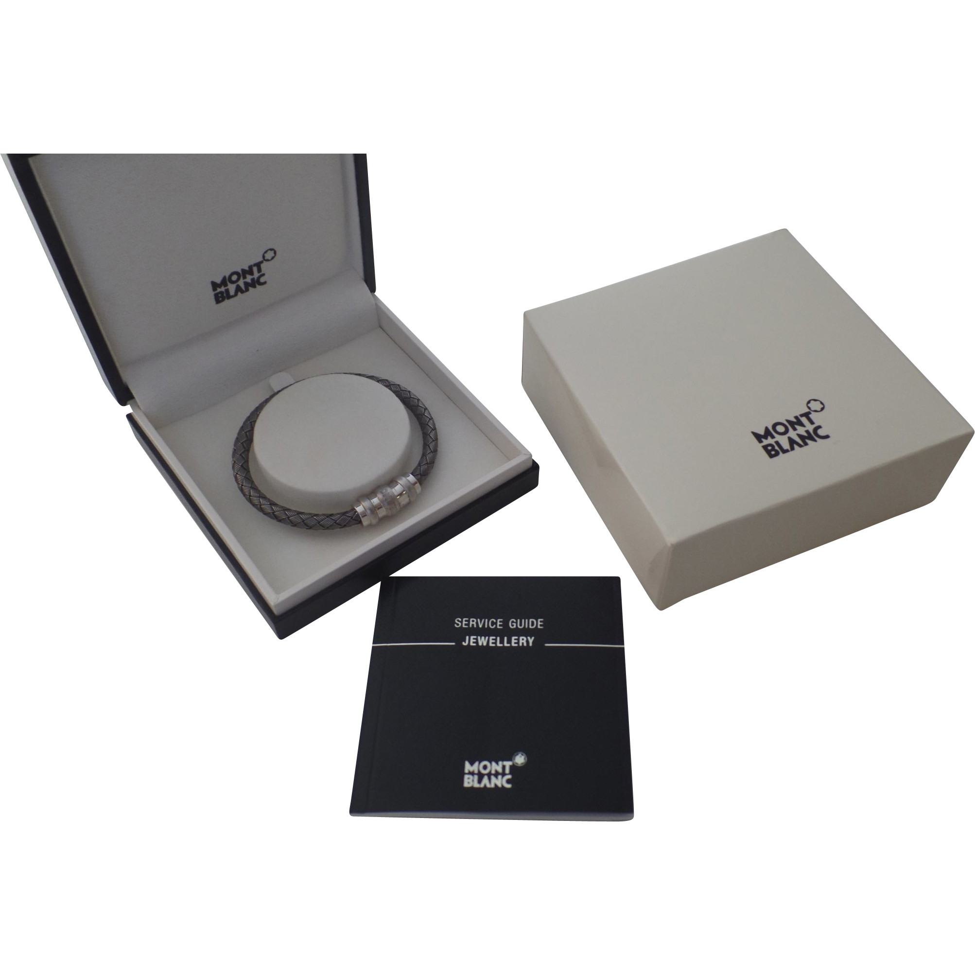 Vintage Sterling Silver Woven Montblanc Men S Bracelet New In Box