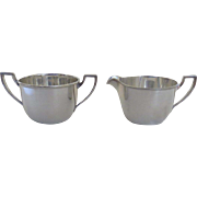 Simple Elegance Vintage Silver Plated Creamer & Sugar by Pairpoint