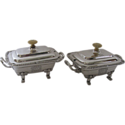 Pair of Old Sheffield Fused Plate Sauce Tureens c 1820