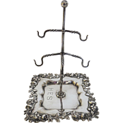 Sterling Redlich New York Ring Stand Tree Tray Jewelry c 1890