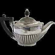 Vintage Older Regent Silver Plate Tea Pot Family Crest Armorial c 1890