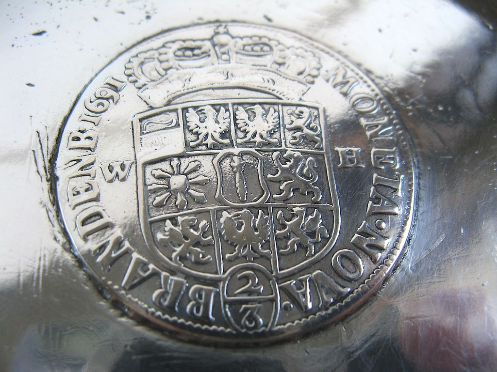 Spanish Colonial Bowl with Silver Coin