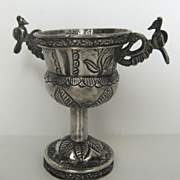Silver Spanish Colonial Cup Goblet Bird Handles
