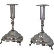 19th Century Spanish Colonial Silver Candlesticks