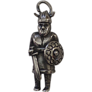Vintage Sterling Silver 925 Viking Warrior Charm