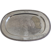 Shabby Chic Vintage Silver Plated Viking Tray Yorkshire Oval