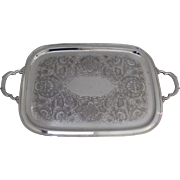 Vintage International Silver Plated Georgian Court Large Serving Tray