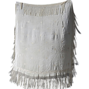Piano Scarf Silk Embroidered Fringe