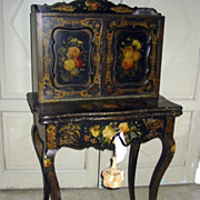 "Rococo Revival Writing Desk ""Japanned"" Painted"